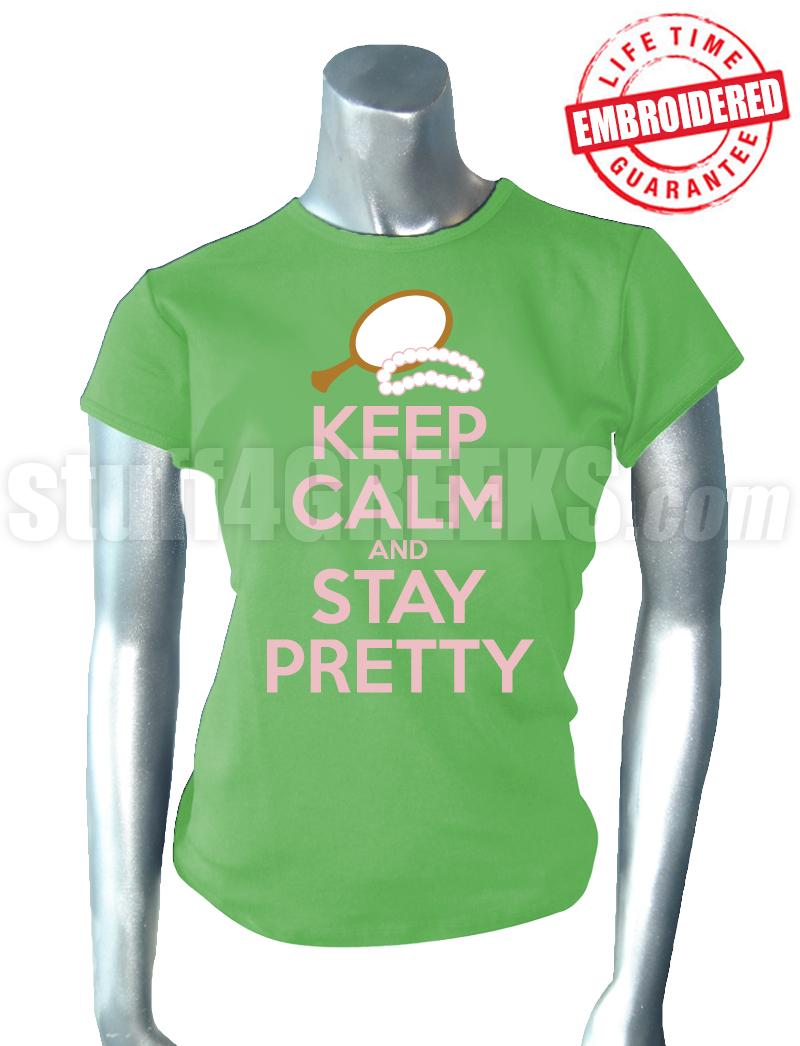 Alpha Kappa Alpha Keep Calm T-Shirt, Key Lime Green ... Sorority Shirt Quotes