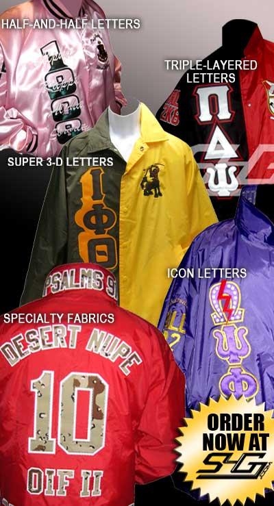 Unique Greek letters on Greek apparel