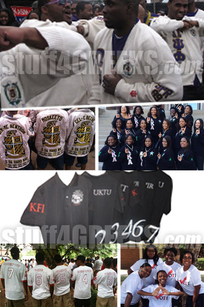 Group orders of Greek line jackets and fraternity sorority sweaters